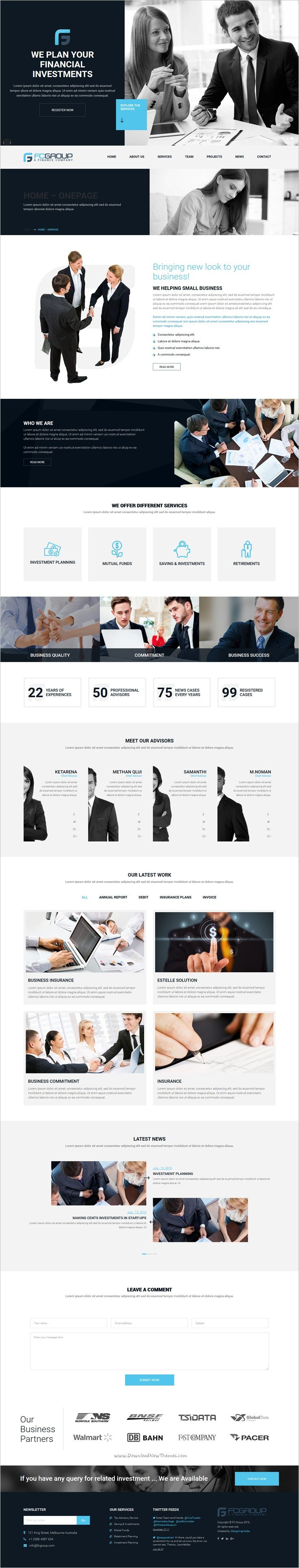 Finance group is minimal design premium #WordPress #theme for multipurpose #business website download now➯ https://themeforest.net/item/finance-group-corporate-wordpress-theme/16468806?ref=Datasata