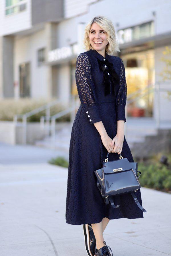 Navy Blue Holiday Dress | Fashion (Community) | Fashion, Holiday