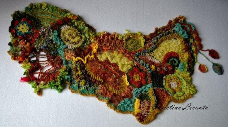 """shawl """" A la conquête de l'Ouest """" .    http://www.christine-leconte.com/"""
