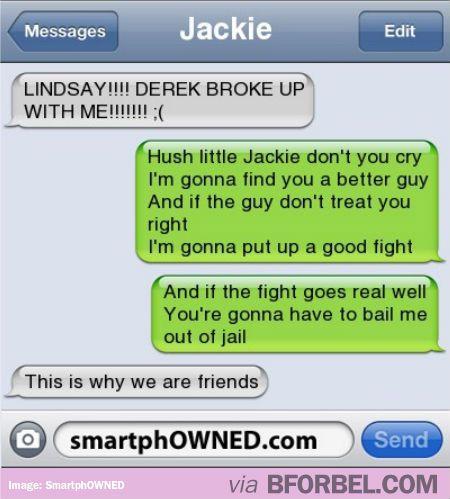 The best friend break up song :)
