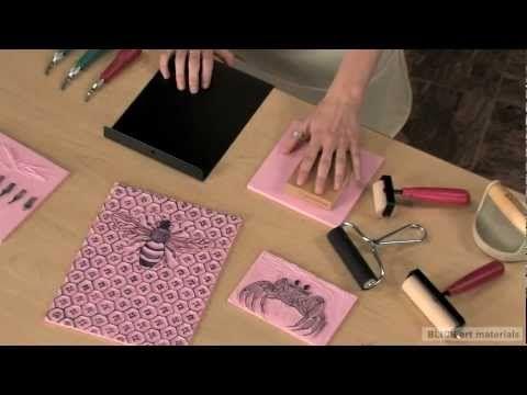 Linoleum Block Printing - Getting Started.  Dick Blick - good info on materials.