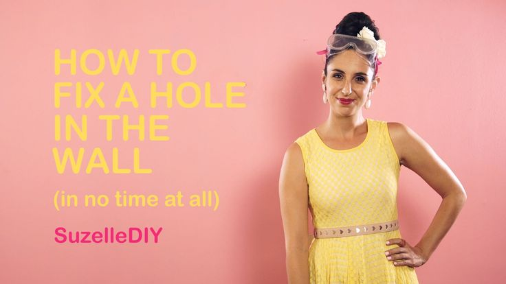 How To Fix A Hole In The Wall The Suzelle DIY Way