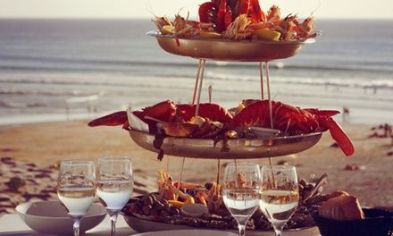 Restaurant Le Grand Hôtel de la Plage : Plateau de fruits de mer à Biscarrosse