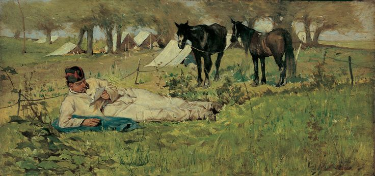 Giovanni Fattori The letter to the field, 1873 - 1875. Istituto Matteucci di Viareggio.