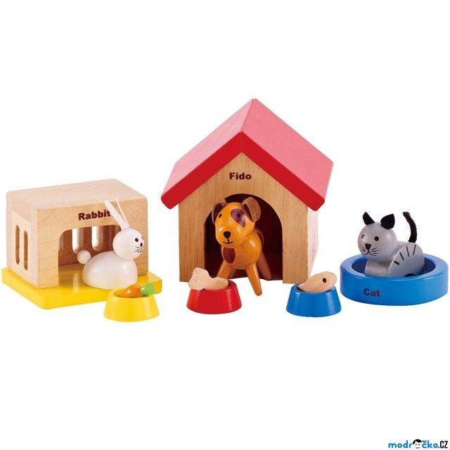Nábytek pro panenky - Domácí mazlíčci (Hape)