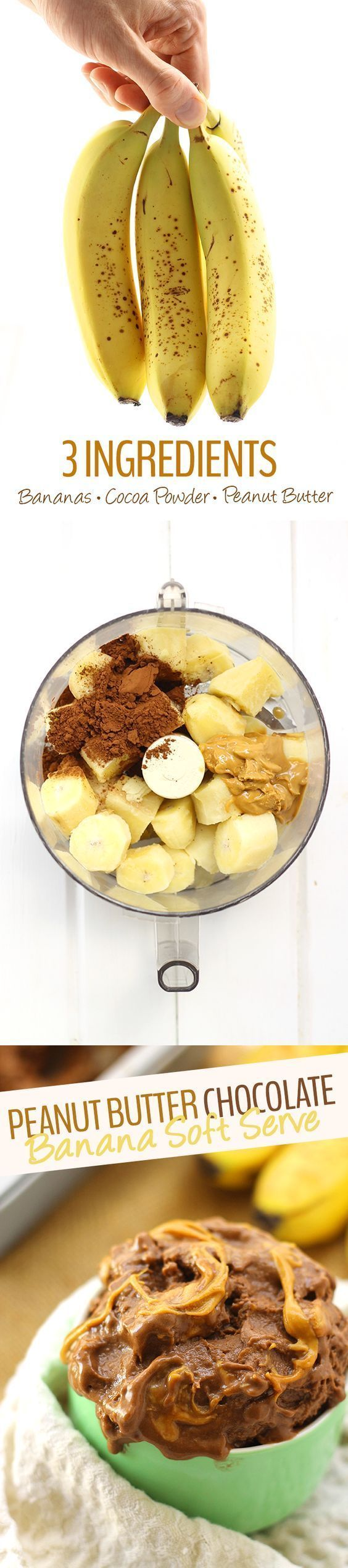 Peanut Butter Chocolate Banana Soft Serve