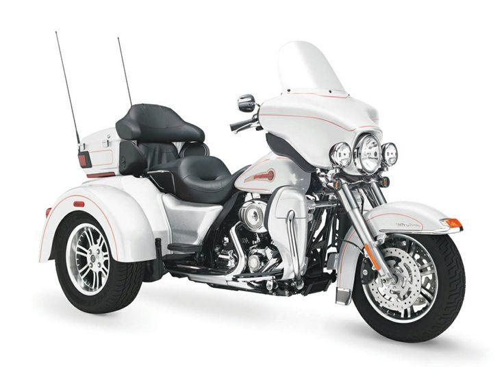 New 2016 Harley Davidson Tri Glide Ultra Trikes In Las: Harley Davidson Tri Glide Trikes Beauty White