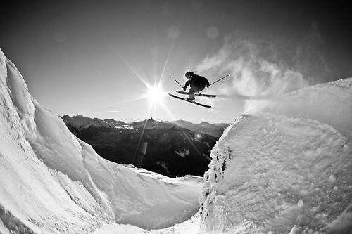 Nice b ski shot!