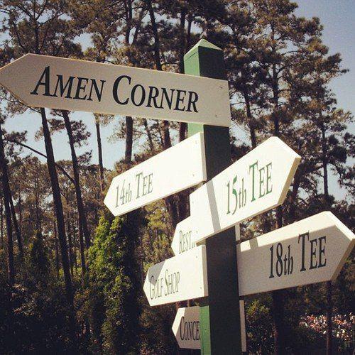 Amen Corner Augusta Masters Golf