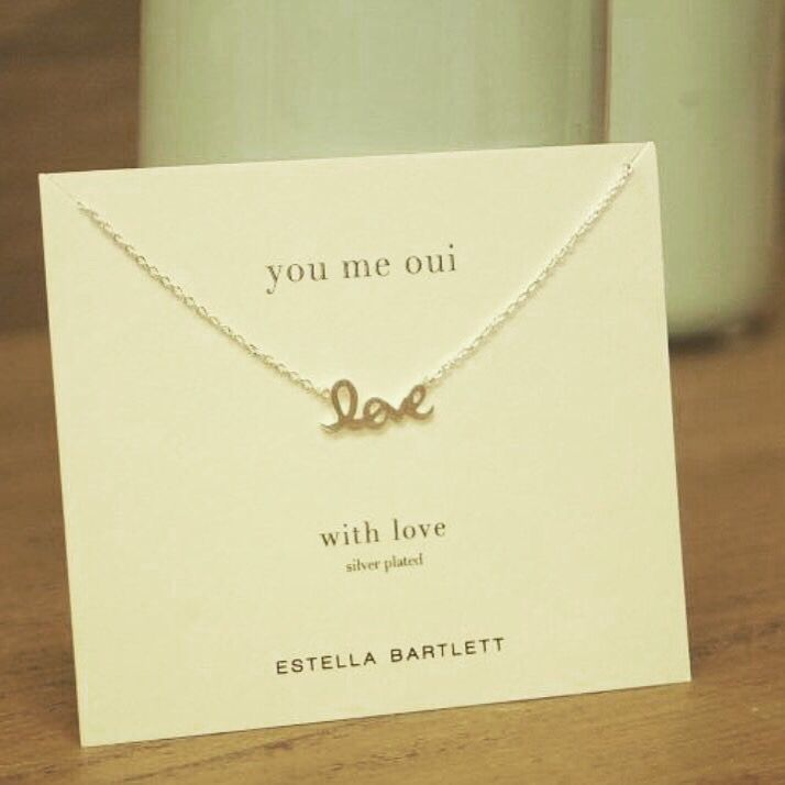 Love necklace from Estella Bartlett