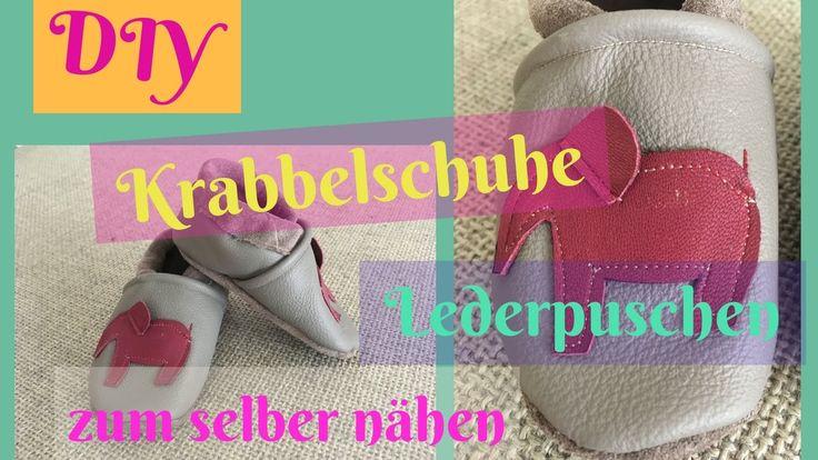 DIY Anleitung Krabbelschuhe/Lederpuschen zum selber nähen/ Nähanleitung für Anfänger