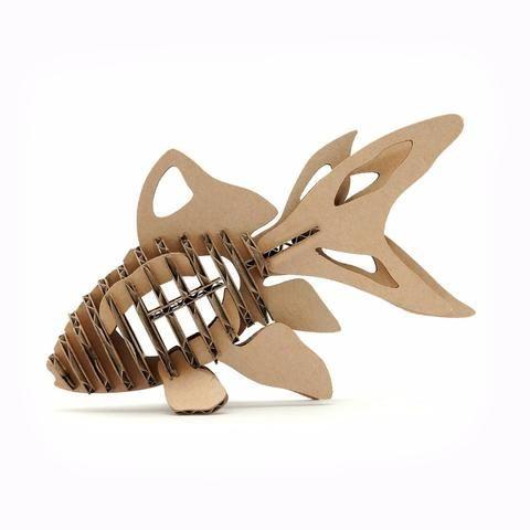 3d Puzzle Fish Model, Educational Toys Children, DIY Cardboard Animal Papercraft