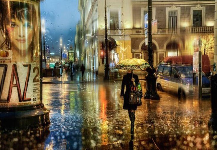 Diaporama : Les superbes photos de villes sous la pluie d'Eduard Gordeev