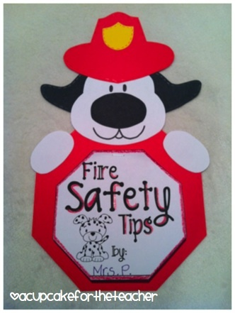 A Cupcake for the Teacher: Fire Safety Pup {Craftivity and Printables} $4.00