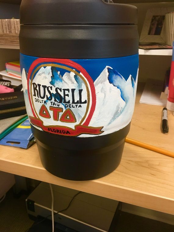 Sorority or Fraternity Custom Painted Bubba Keg by CustomBubbaKegs
