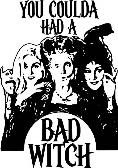 Download Hocus pocus svg, you coulda had a bad witch svg, halloween ...