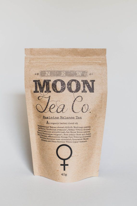 Organic Female Hormone Balance tea Pms pain relief by NewMoonTeaCo