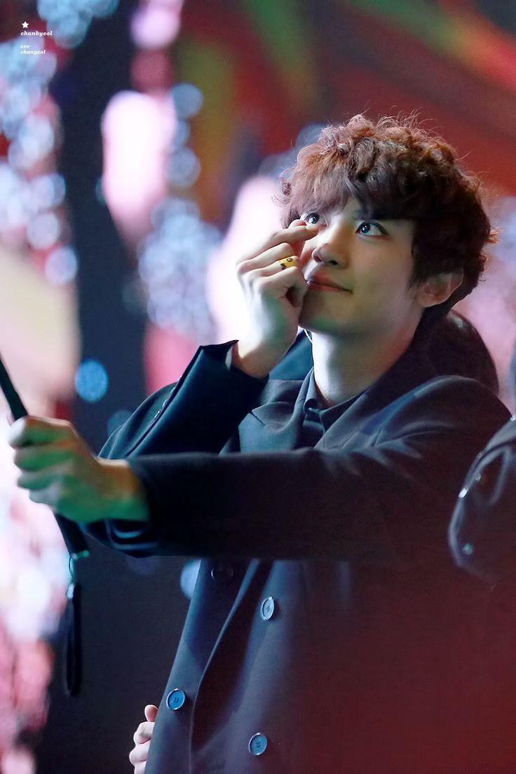 Chanyeol - 170121 Green Nature 2017 EXO Fan Festival Credit: 찬별. (그린네이처 2017 엑소 팬 페스티벌) a cutie