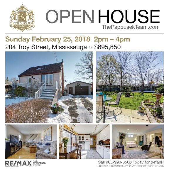 Join us on Sunday at our Open House for this quaint home located in the highly sought after neighbourhood of Mineola East. Buy and live as-is, renovate, or build your dream home. Featuring a large 1.5 car garage situated on a mature 50' x 113' lot is the one you have been waiting for!
