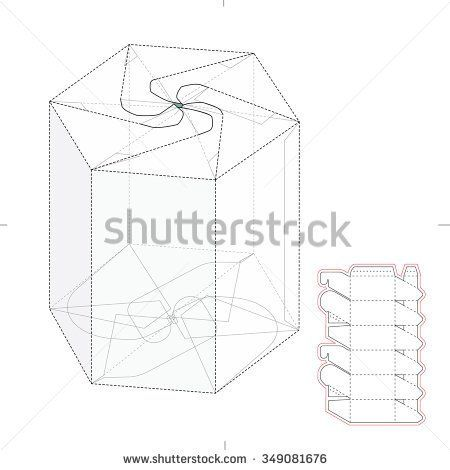 Tetra as well Stock Vector Vector Illustration Of Milk Or Juice Craft Box For Design Website Background Banner Folding further Stock Vector Counter Display Stand With Blueprint Pattern furthermore Packaging together with Random Inspiration Part 7. on layout for hexagonal box