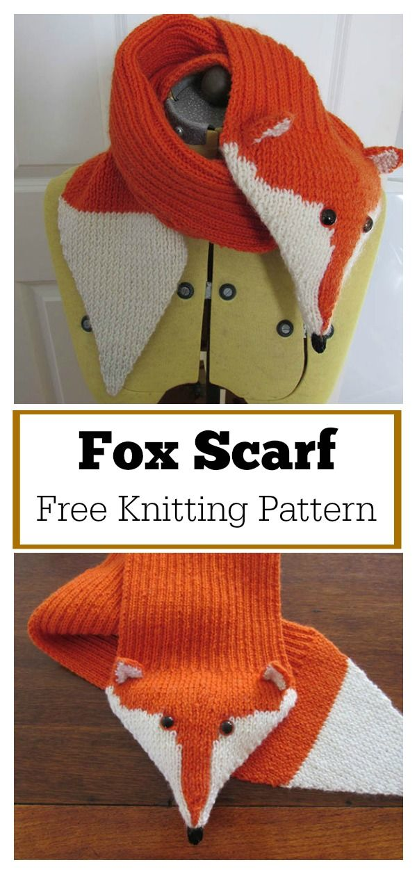 Adjustable Fox Scarf Free Knitting Pattern Crafty Knitting