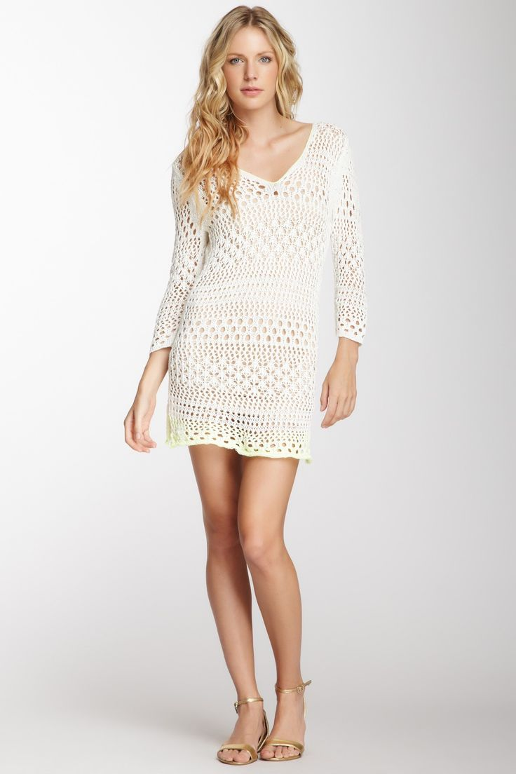 Maire Crocheted Contrast Stitch Dress, love this look. Must find it.