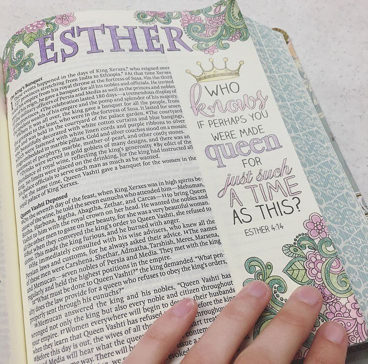 I never use pinks and purples so I figured Esther would be the perfect place to start. What I love about bible journaling is noticing how much I reflect on the verses as I write or draw. Esther makes me think of purpose. We may not immediately understand the path God leads us down but we can rest assured that He has a plan and knows how to best use us for His glory. #Esther #biblejournaling #biblejournalingcommunity #illustratedfaith #purpose #Esther4 #HappySabbath by lisa_ep91