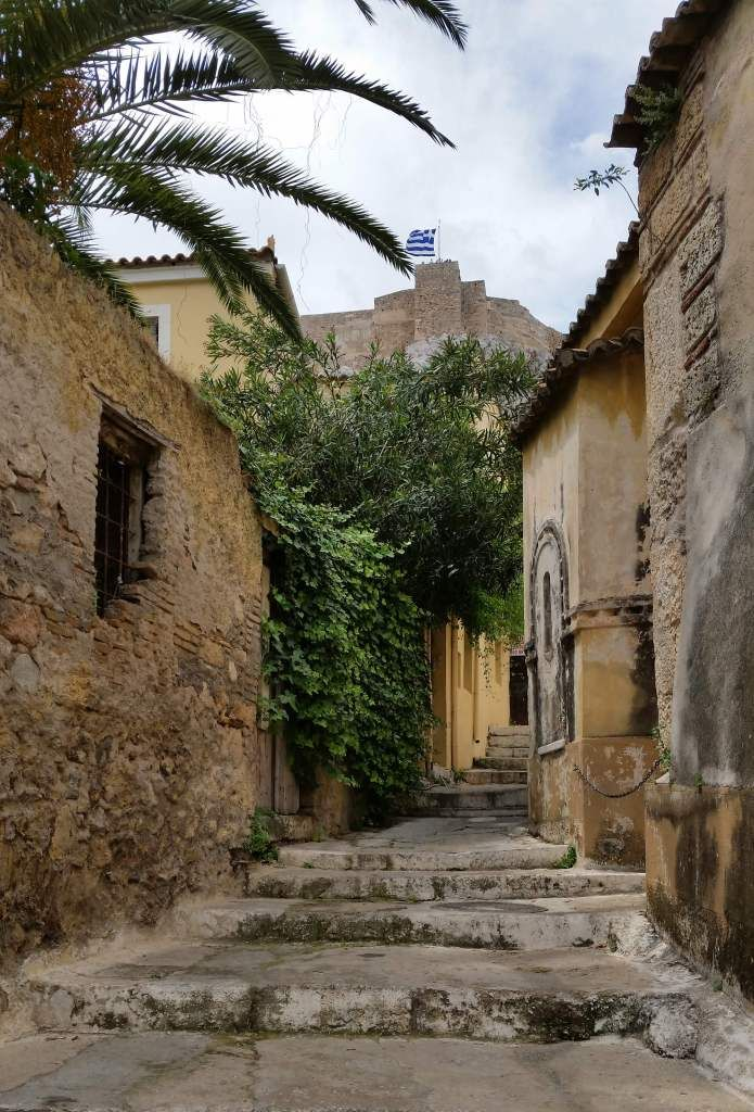 One of my favorite streets in the Plaka - Athens, Greece - ourtastytravels.com
