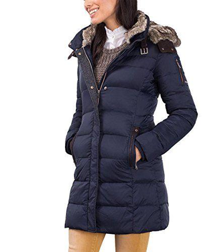 #ESPRIT #Damen #Mantel #096EE1G011, #Blau #(Navy #400), #34 #(Herstellergröße: #34) ESPRIT Damen Mantel 096EE1G011, Blau (Navy 400), 34 (Herstellergröße: 34), , Daunenjacke, Daunenmantel mit abnehmbarer Kapuze mit abnehmbarem Kunstfellkragen und Windstopperbündchen an den Ärmelenden, Mit verdecktem Reißverschluss und Fake-Leder-Einsätzen an Kragen und Kapuze…