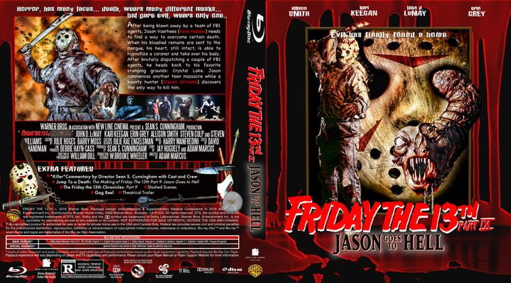 Friday The 13th Part 9-Jason Goes to Hell Blu-ray Custom Cover