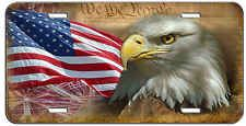 CUSTOM LICENSE PLATE INDEPENDENCE AMERICAN FLAG AND EAGLE