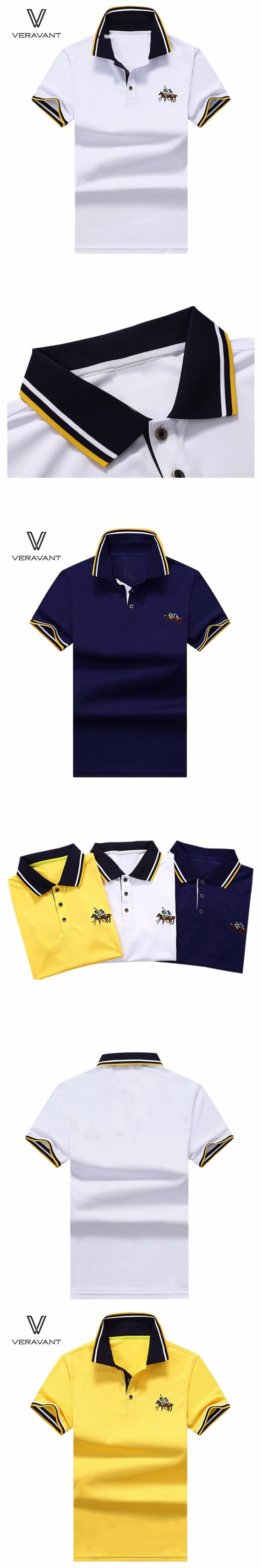 Men Polo Embroidery Poloshirt Casual Polo Shirts Short Sleeve Tops 2017 Summer Polos Turn-Down Collar Polo Shirt