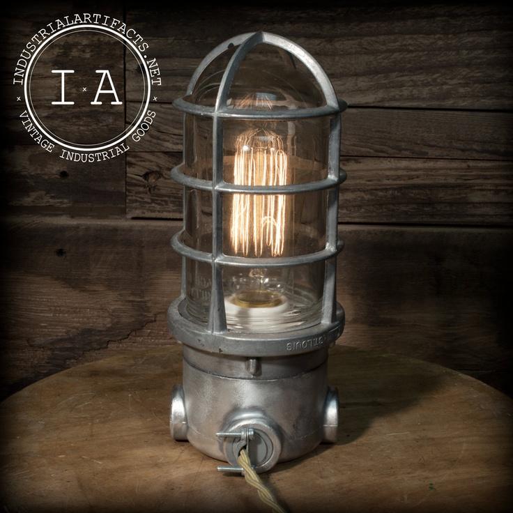Vintage Industrial Explosion Proof Desk Lamp Steampunk Decor Light Killark St. Louis. $175.00, via Etsy.