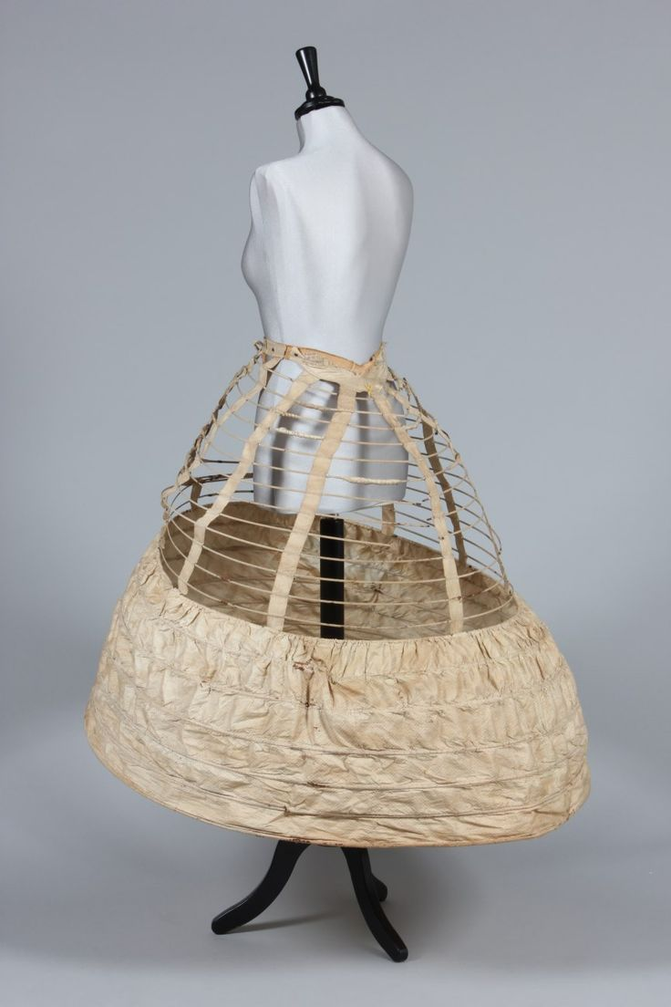 "Ca.1860 ""Empress"" cage crinoline/hoop skirt combination. Kerry Taylor Auctions."