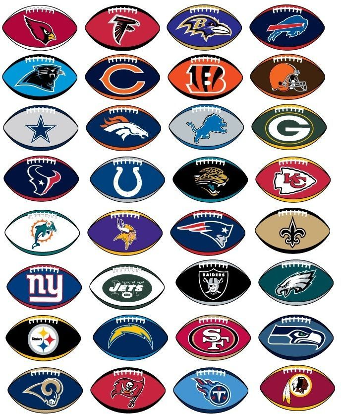 Nfl Football Stickers 32 Teams Prismatic Not Folded Licensed