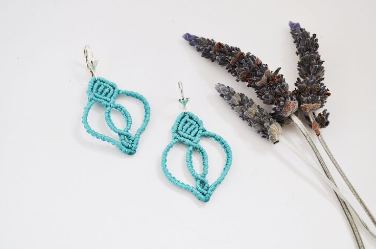Learn now how to make #Drop #macrame #earrings!!Only at e-xantra.gr