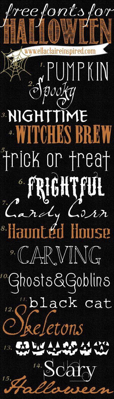 15 Fabulous Free Halloween Fonts