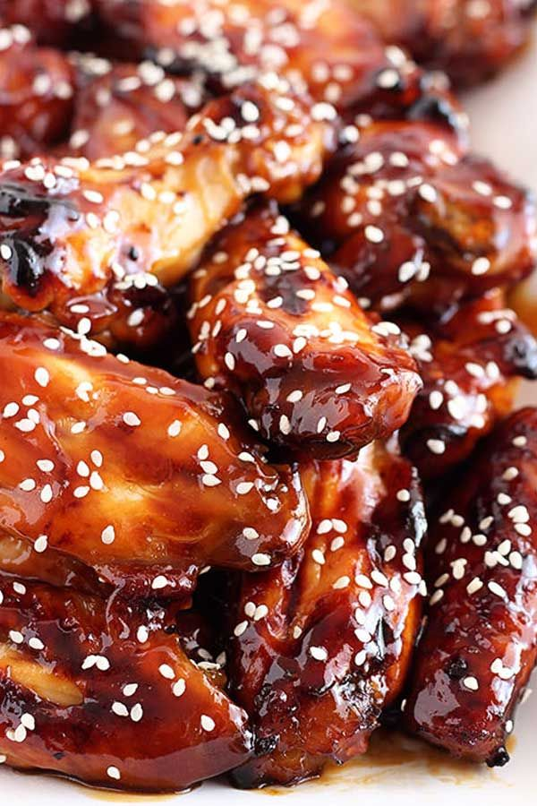 Honey Teriyaki Chicken Wings Recipe In 2020 Teriyaki Chicken Wings Baking With Honey Baked Teriyaki Chicken