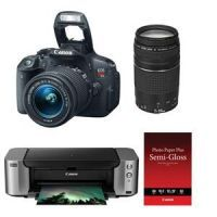 Canon EOS Rebel T5i w/ Two Lenses & Printer $450