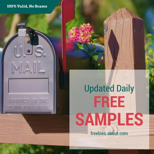 List of free samples by mail, updated April 26, 2016. These are all 100% legitimate, no strings attached free samples that I keep updated every day.