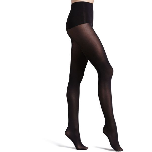 Spanx Haute Contour Tights (50 AUD) ❤ liked on Polyvore featuring intimates, hosiery, tights, pitch, spanx pantyhose, spanx stockings, spanx tights, spanx?? hosiery and spanx