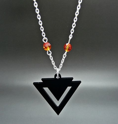 Product description for Aztec Geo - Fire Opal Charm Necklace