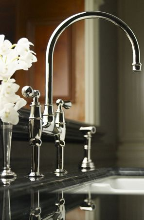 Classic Bridge Faucet By Perrin U0026 Rowe U4719L PN In Polished Nickel.  Clearly The