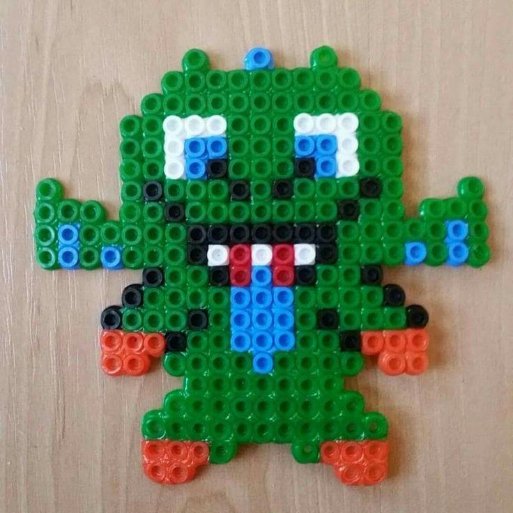Plantilla hama beads baby dragon clash royale