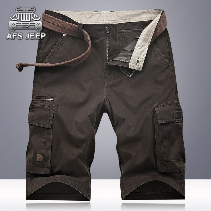 >> Click to Buy << AFS JEEP Cargo Shorts 2017 Summer multi-pockets Casual Mens Shorts Soild Cotton Bermuda Moletom Masculino Plus Size 42 Shorts  #Affiliate