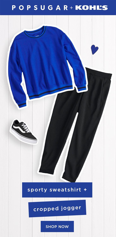 a6a0d3b5a5b Women s POPSUGAR Striped-Trim Sweatshirt