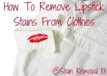 Lipstick Stain Removal - How To Remove Lipstick Stains