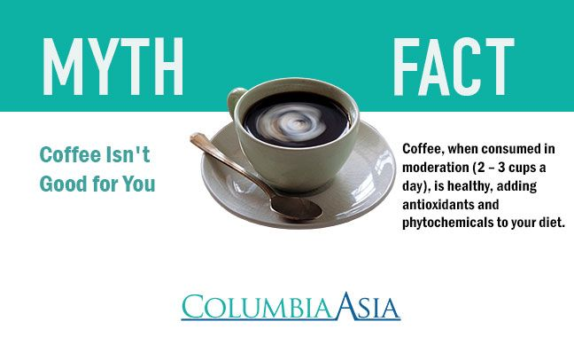 11 best common health myths and facts images on pinterest facts truths and cardiovascular disease - Myths and truths about coffee ...