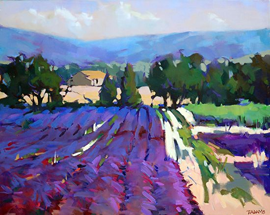 Beyond the Lavender by Trisha Adams Oil ~ 24 x 30
