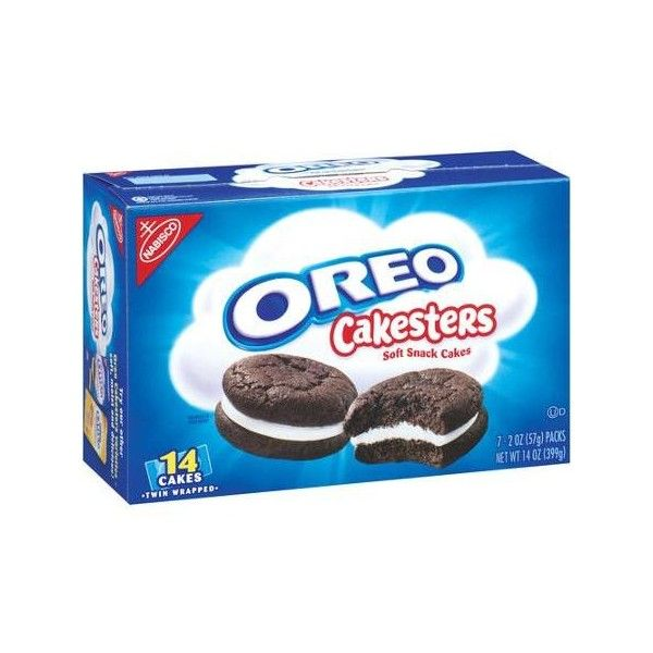 Nabisco Oreo Cakesters Soft Snack Cakes, 2 oz, 7 count Walmart.com (3.74 AUD) ❤ liked on Polyvore featuring food and food and drink